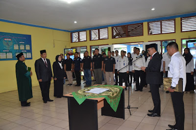 Kepala BNNP Jambi Lantik Kepala BNN Kota Jambi Beserta Kepala Seksi Rehabilitasi BNNK Tanjabtim