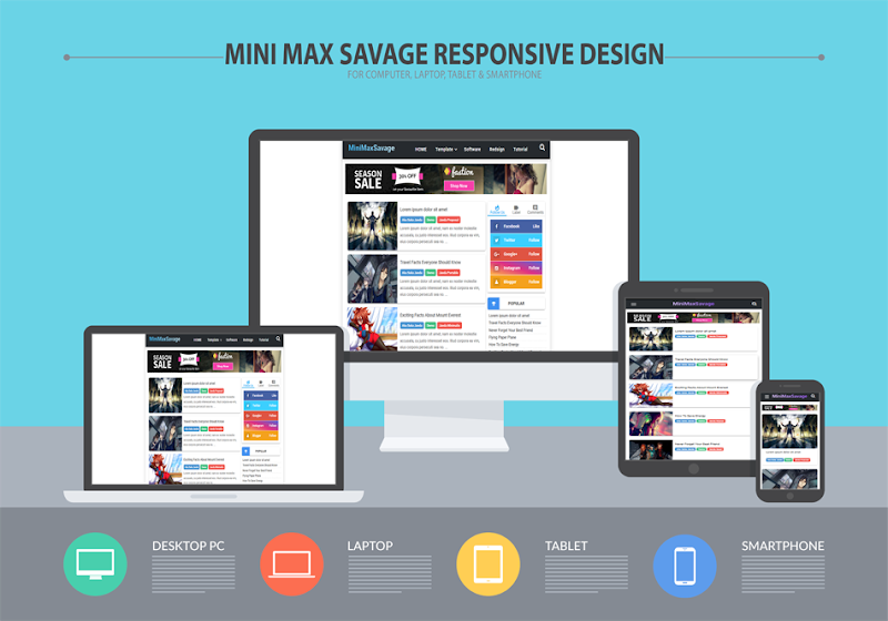 MiniMaxSavage New Blogger Template