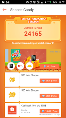 Shopee Candy AADC Tuker Berlian Dapat Iphone 11 Pro