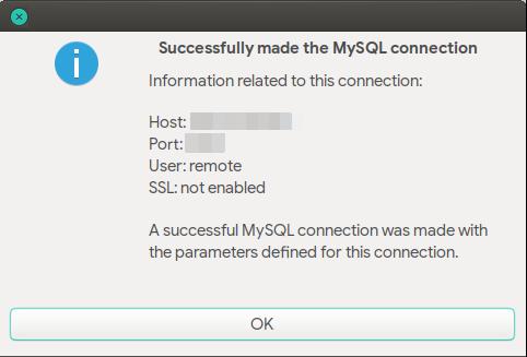 Tes koneksi jarak jauh MariaDB dengan MySQL Workbench