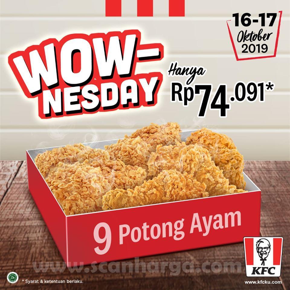 Promo Kfc Wow Nesday 9 Potong Ayam Rp 74 091 Scanharga
