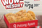 Promo KFC WOW-Nesday 9 Potong Ayam Rp.74.091