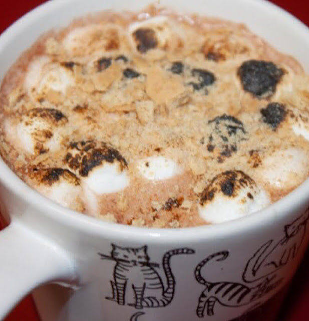 S'Mores Cocoa by The Lazy Gastronome https://lazygastronome.com/smores/