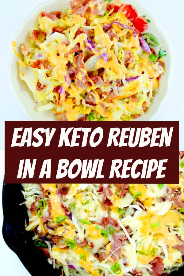 This quick and easy to make Keto Reuben in a Bowl has all the flavors of a Reuben without all the carbs! #keto #reuben #ketorecipes #easyrecipes