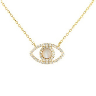 Accessorize  - Crystal Evil Eye Pendant Necklace
