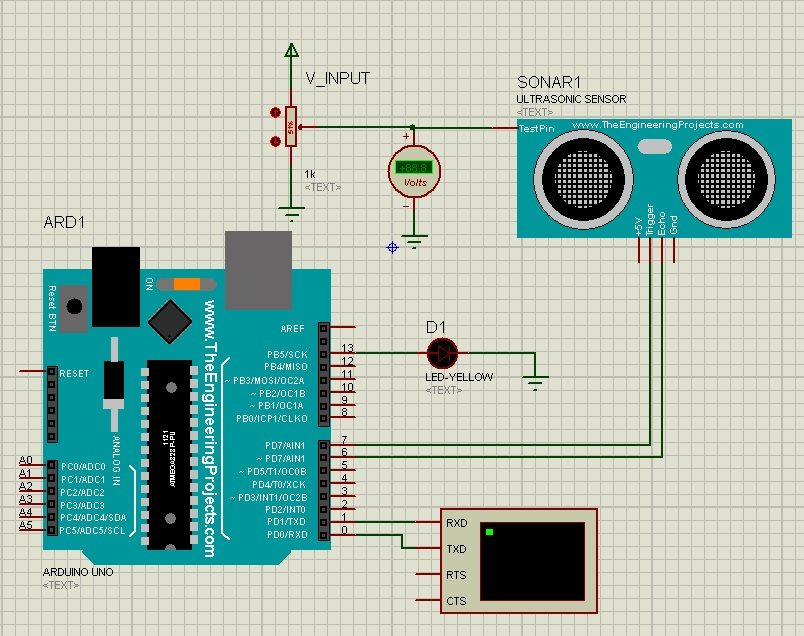 Ultrasonic Sensor Library for Proteus Software   Arduino