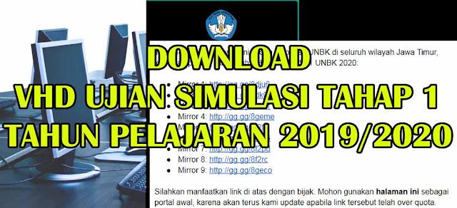 Link VHD Simulasi 1 tahun 2019/2020