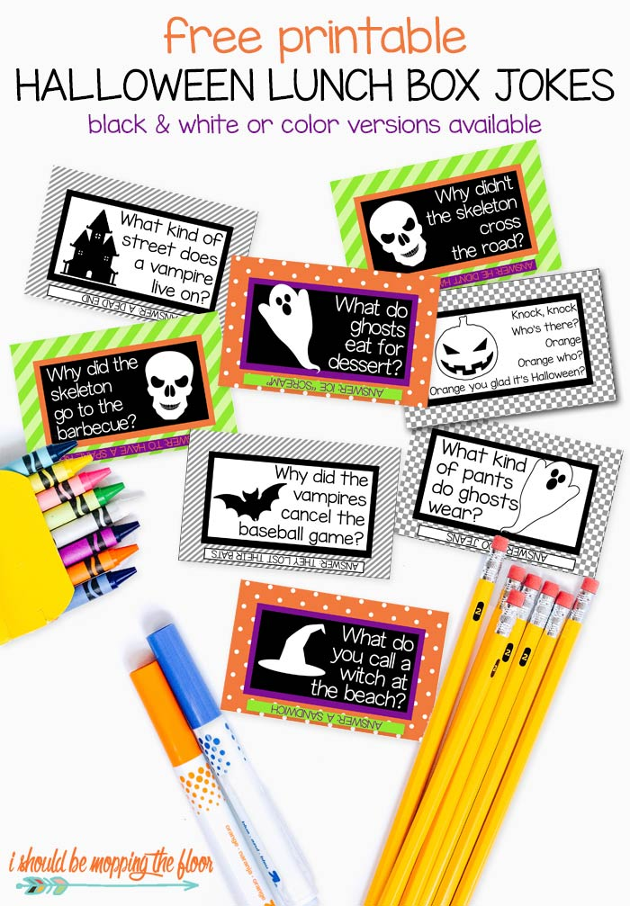 Free Printable Halloween Lunch Box Jokes for Kids and Adults!