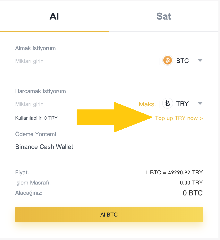Binance'den Türk Lirası ile Bitcoin Nasıl Alınır