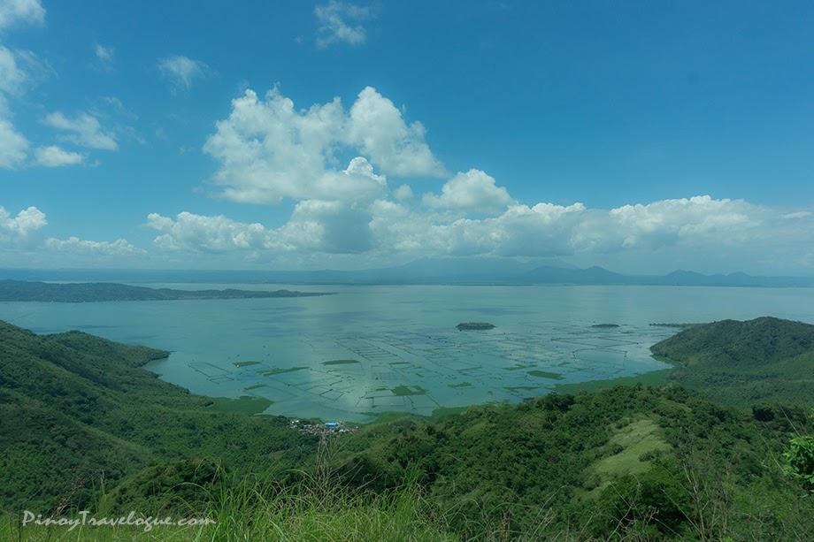 Cove-like portion of Talim Island and fish pens of Laguna Lake