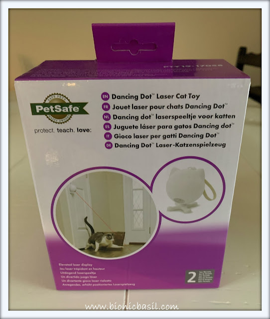 What's In The Box ©BionicBasil® PetSafe Dancing Dot Laser Cat Toy