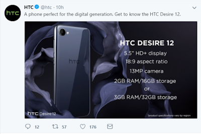 htc desire 12 smartphone