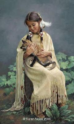 rostros-niños-indios-al-oleo