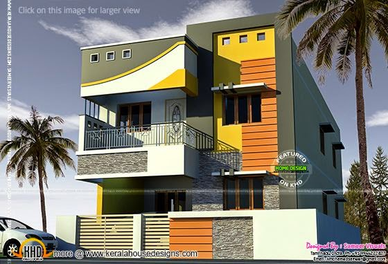 2000 sq-feet Tamilnadu house
