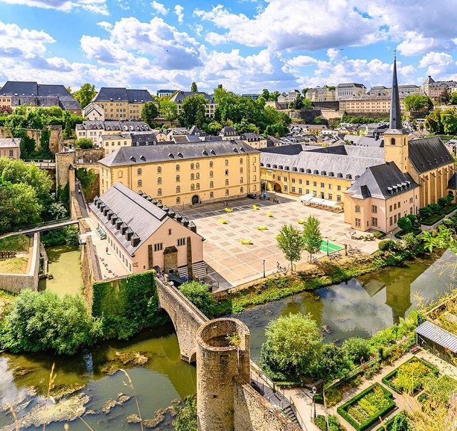 luxemburgo vista de cima