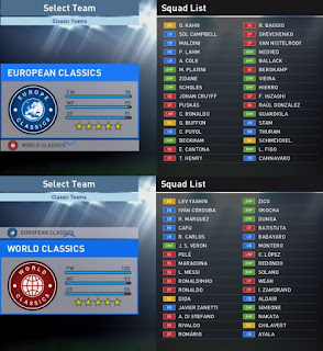 PES 2016 Updated Classics Teams For PTE Patch 6.0 by nikolaMKD95