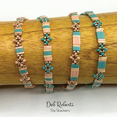 Tila Stackers, free pattern at AroundTheBeadingTable.com