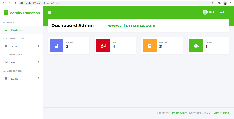 Source Code Aplikasi E-Learning Berbasis Web