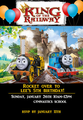 THOMAS AND FRIENDS KING OF THE RAILWAY TRAIN BIRTHDAY PARTY