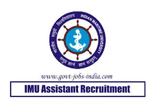 IMU Assistant Recruitment 2020