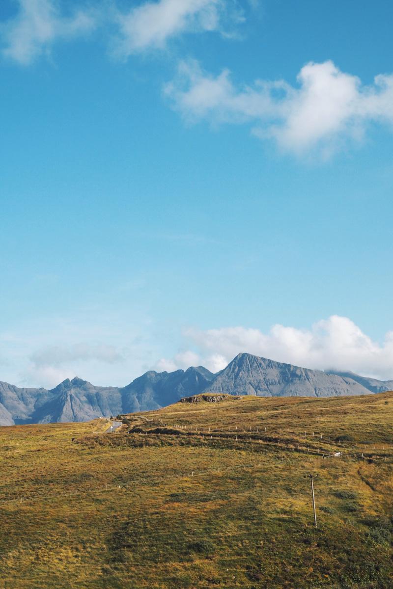 Chaîne de montagnes des Cuillins sur l'île de Skye en Ecosse