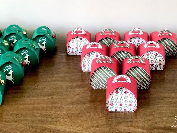 Christmas Curvy Keepsake Boxes
