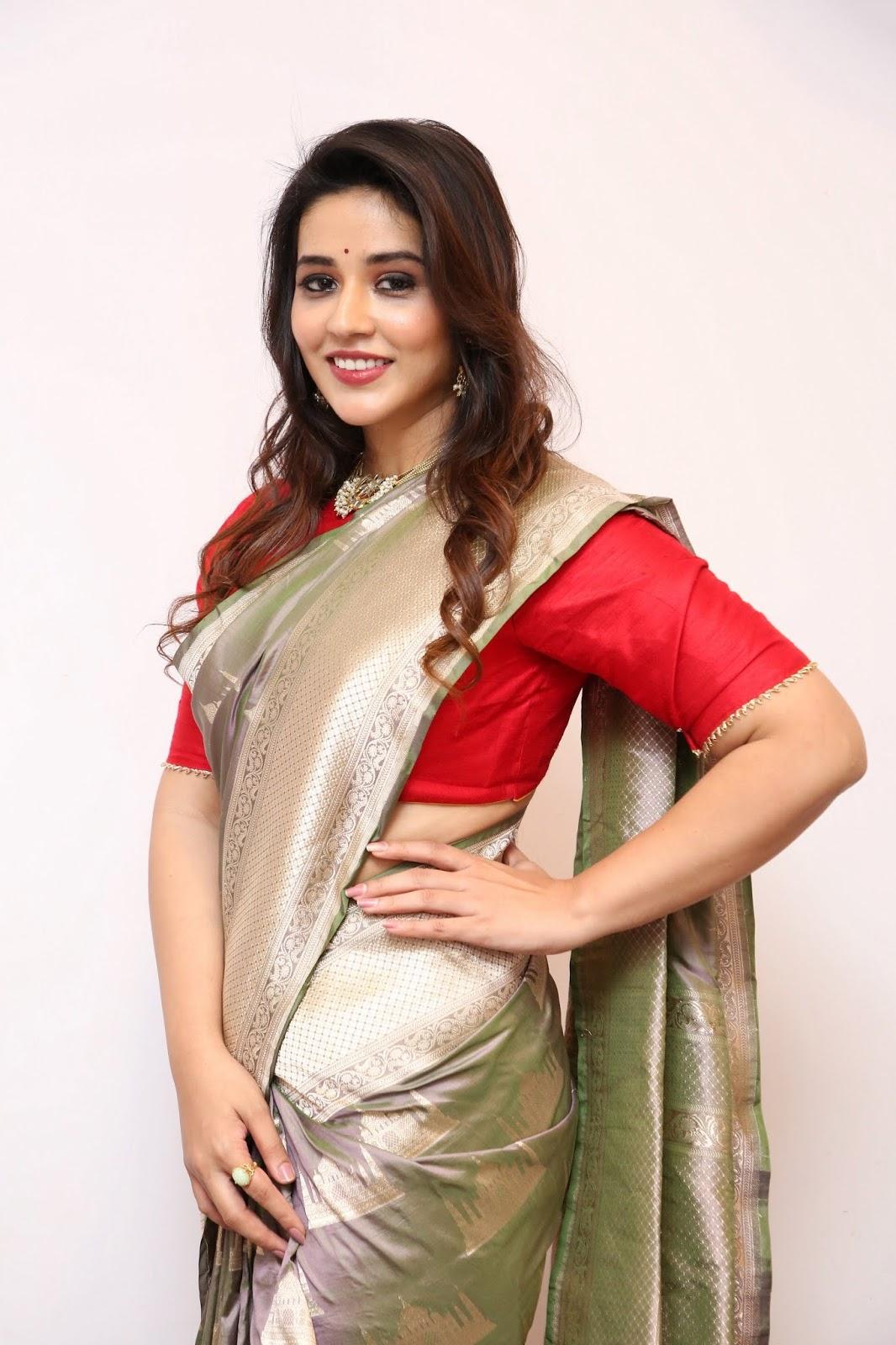 Priyanka Jawalkar Latest Stills In Saree At Kanchipuram GRT Silk Launch
