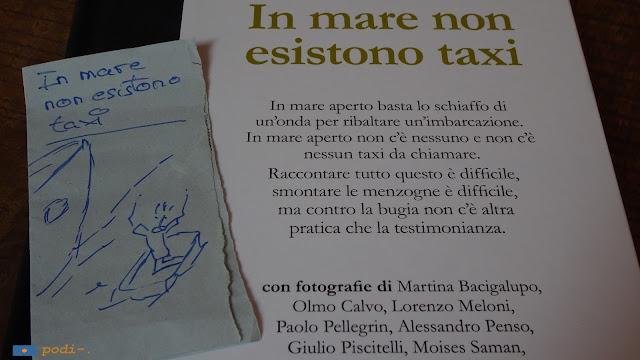 Roberto Saviano - contrasto - in mare non esistono taxi