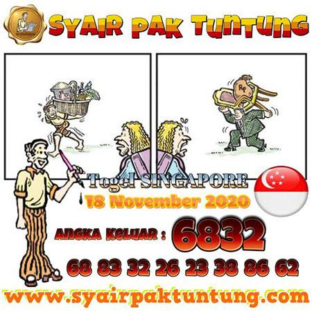 Prediksi Pak Tuntung SGP Rabu 18 November 2020