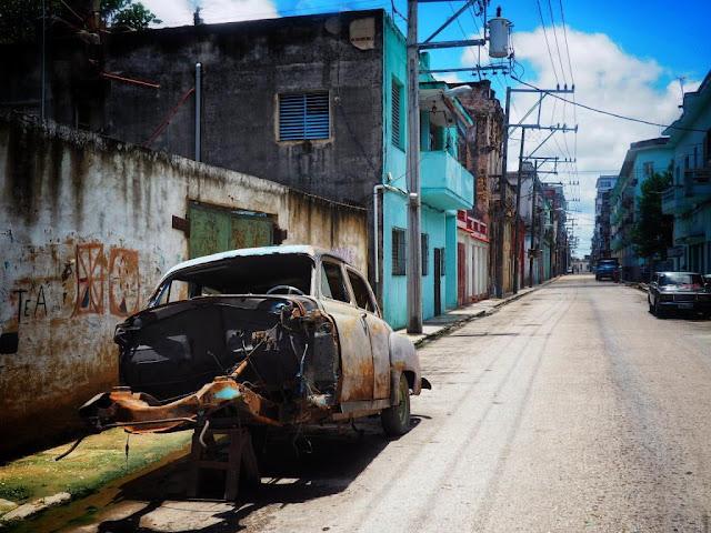 old Havana, streets of Havana, old cars