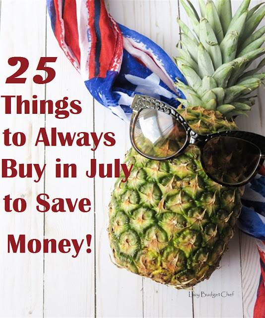 list of what goes on clearance sale in July