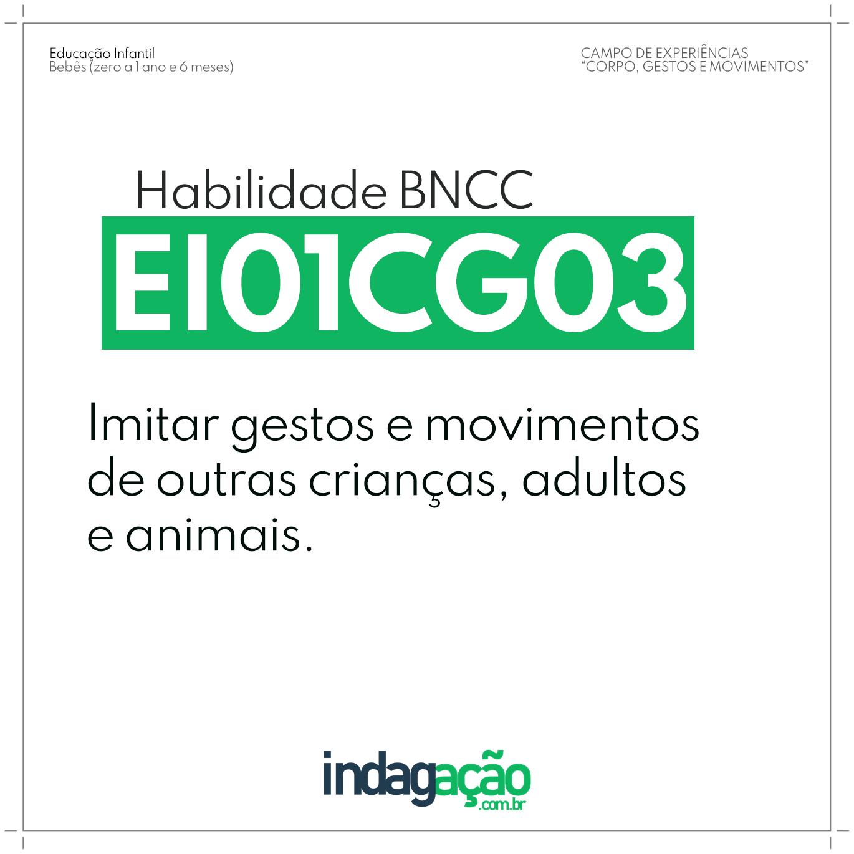 Habilidade EI01CG03 BNCC