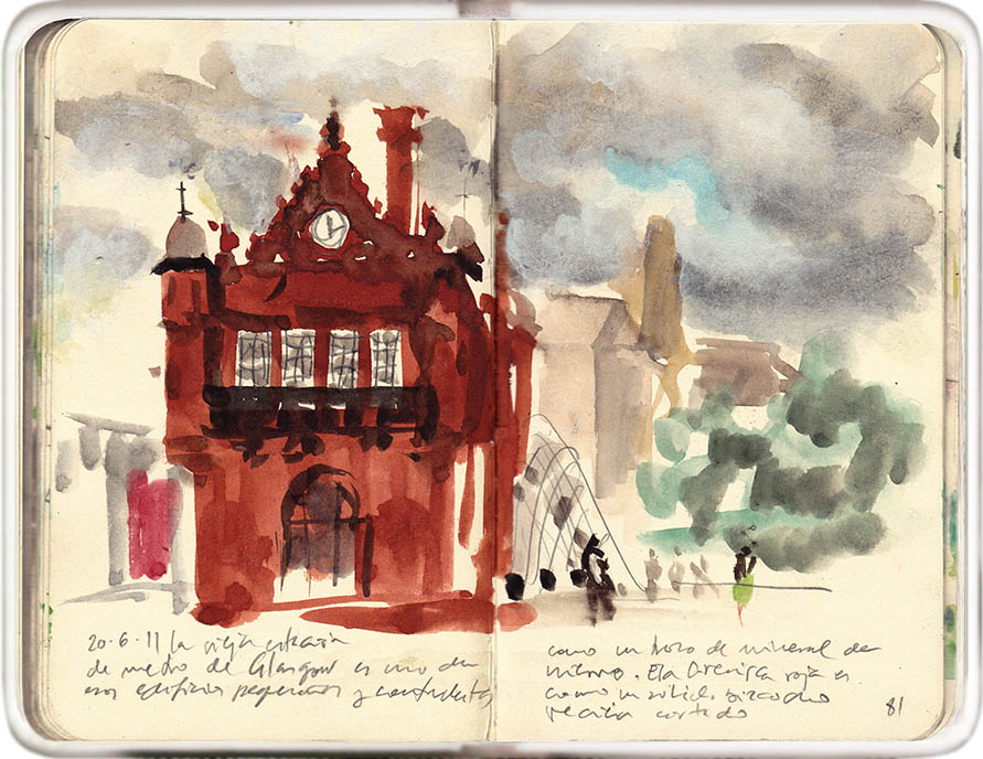 in a few strokes: the old subway station | Urban Sketchers