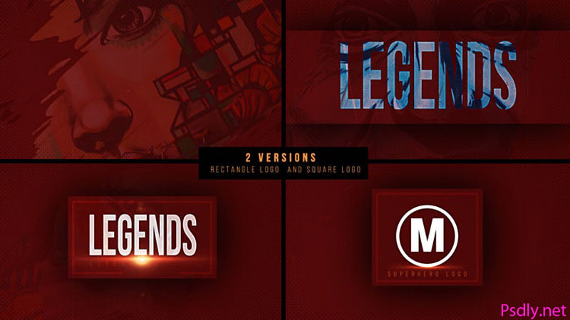 MotionArray Superhero Logo 606093 Free Download