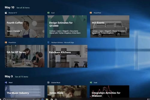 Windows 10 timeline is out of sync