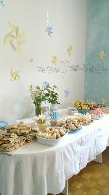 La TEI buffet per battesimo