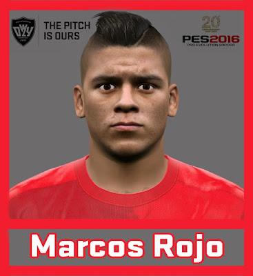 Marcos Rojo New Face - PES 2016 & PES 2017