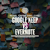 Notes can be a challenge! Google keep vs Evernote