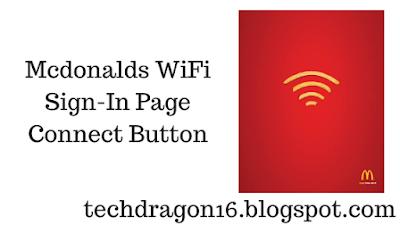 Mcdonalds wifi connect button