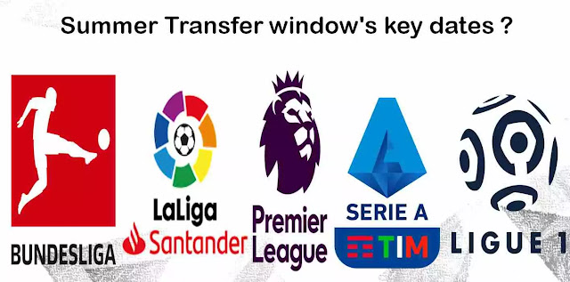 2020 Summer Transfer window's key dates of Europe's 5 top Leagues