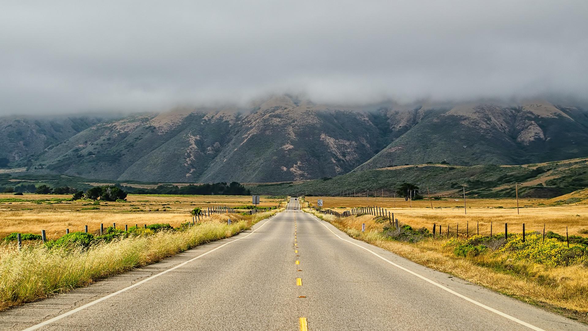 California Landscape Road   Full HD Desktop Wallpapers 1080p