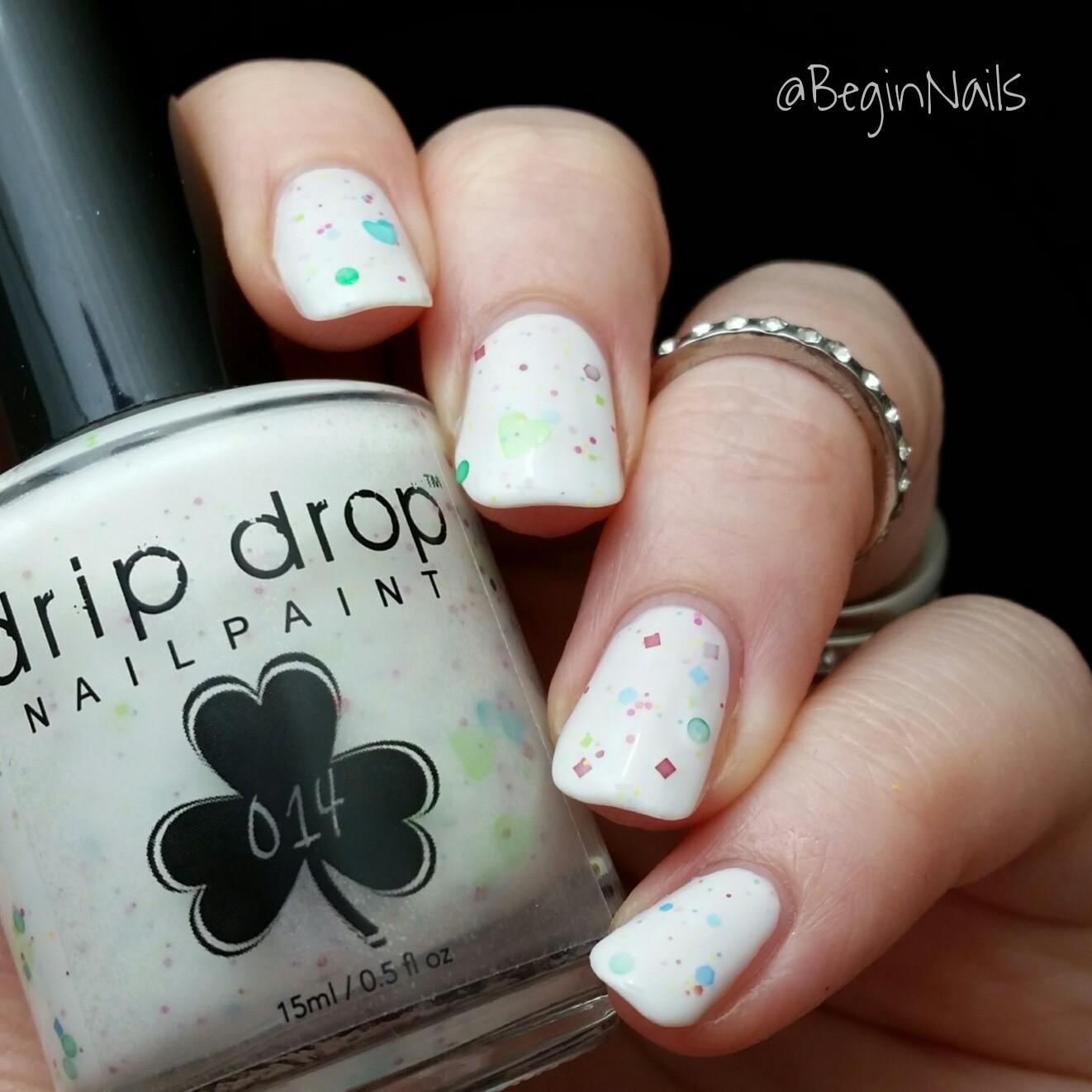 Let\'s Begin Nails: St Patrick\'s Day Nails Using A Drip Drop Nail ...