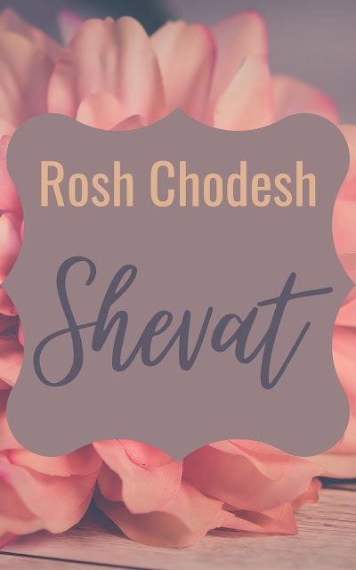 Happy Rosh Chodesh Shevat Greeting Card | 10 Free Modern Cards | Happy New Month | Eleventh Jewish Month