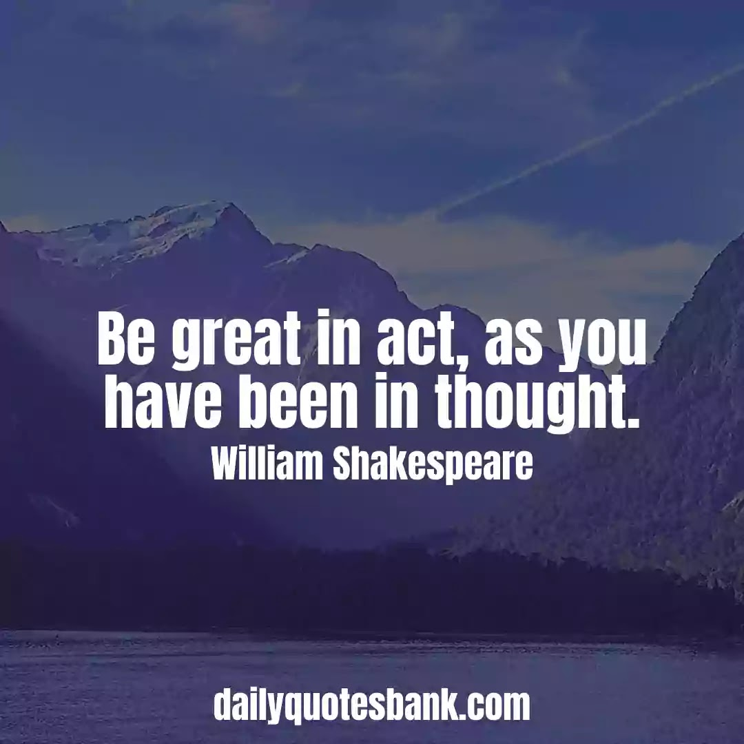 Inspirational Shakespeare Quotes On Life Lessons