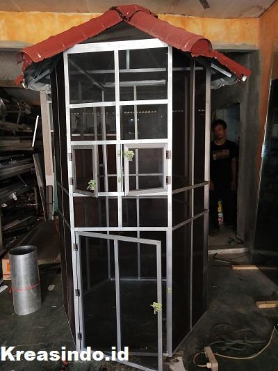 Kandang Aluminium untuk Burung pesanan Bpk Deni DiHalim Jakarta Timur