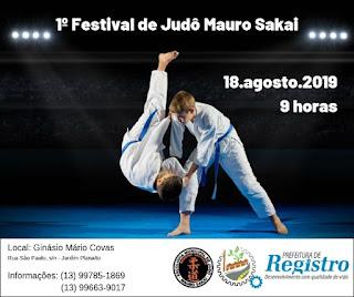 """1º Festival de Judô """"Mauro Sakai"""" recebe inscrições"""
