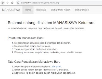 Contoh Sistem Informasi Mahasiswa dengan PHP (Halaman Admin dan Halaman Mahasiswa)