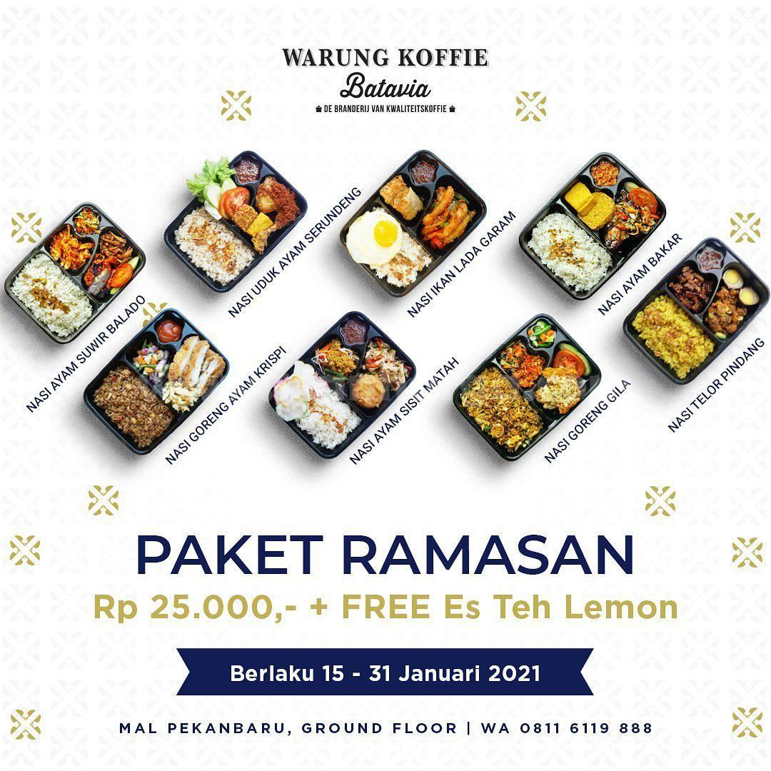 Warung Koffie Batavia Promo Paket Ramasan Rp 25.000 + Gratis Es Teh Lemon