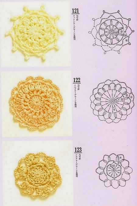 Motivos Quadrados (Squares) de Crochê Com Gráficos 16