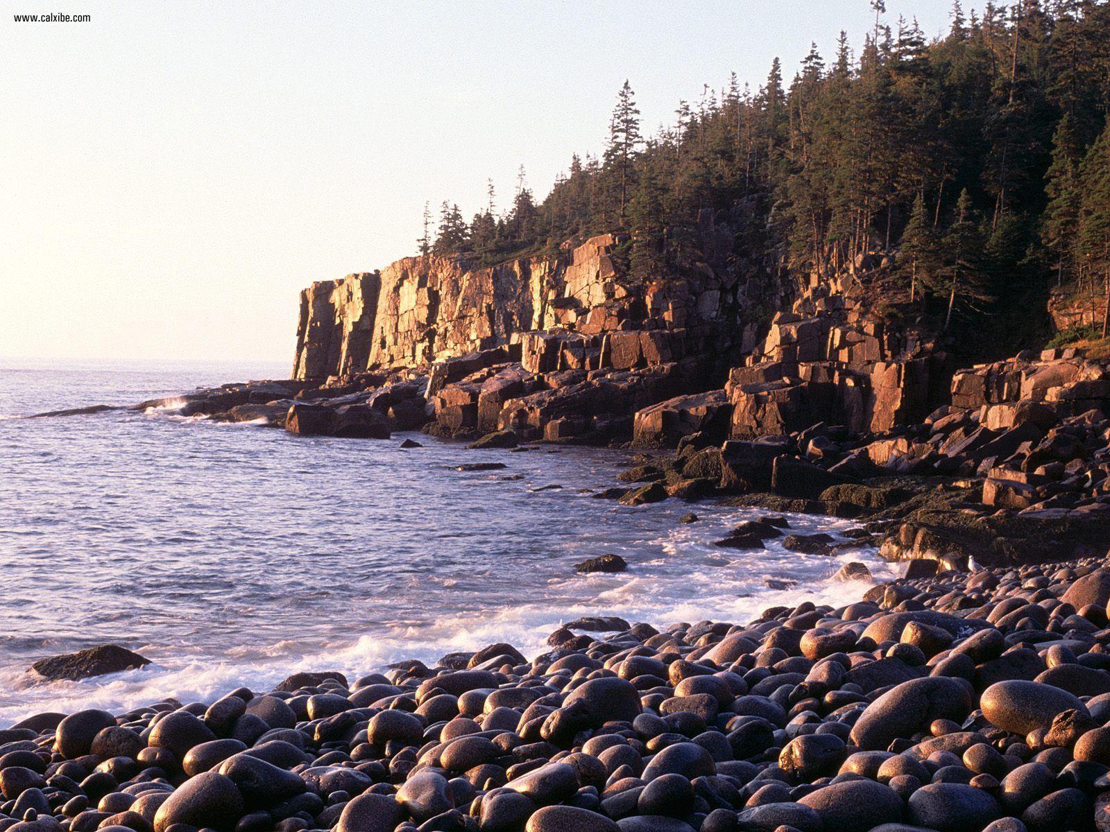 Sunrise At Otter Cliffs Acadia National Park Maine wallpaper